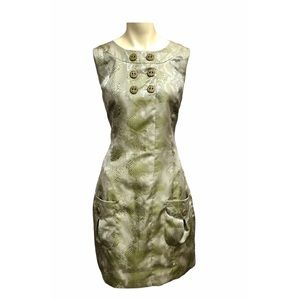 SAMUEL DONG Reptile Print Sheath Dress